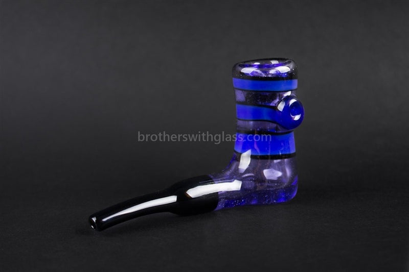 Chameleon Glass Custom MiC Blue Cheese Skater Sherlock Pipe - Brothers with Glass - 1
