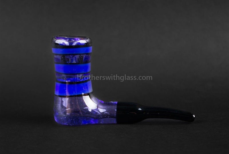 Chameleon Glass Custom MiC Blue Cheese Skater Sherlock Pipe - Brothers with Glass - 3