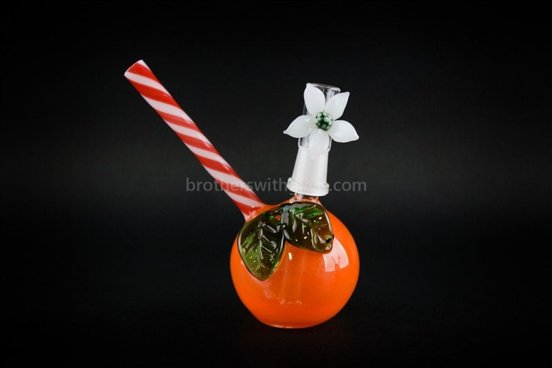 Mathematix Glass Orange And Daisy Dome Dab Rig - Brothers with Glass - 1