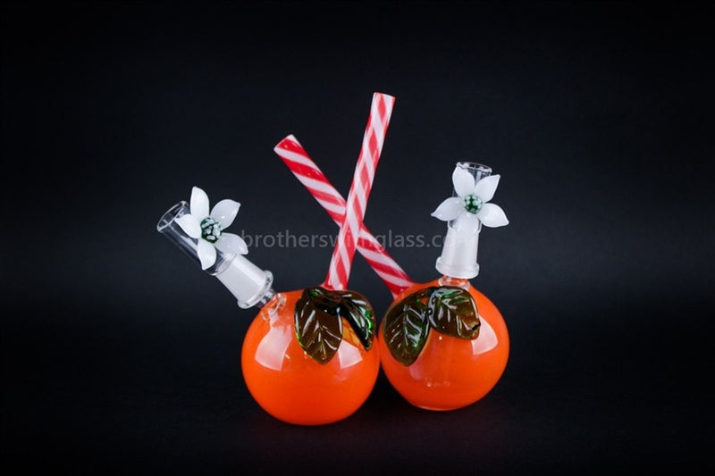Mathematix Glass Orange And Daisy Dome Dab Rig - Brothers with Glass - 4