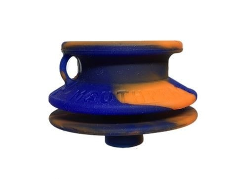 Moose Labs MouthPeace Slim Pipe Protector - Blue and Orange - Brothers with Glass