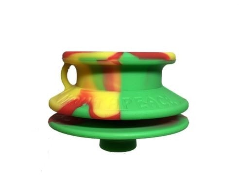 Moose Labs MouthPeace Slim Pipe Protector - Rasta - Brothers with Glass