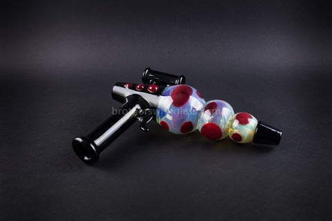 Mathematix Glass Steamroller Fumed Ray Gun Hand Pipe - Brothers with Glass - 1