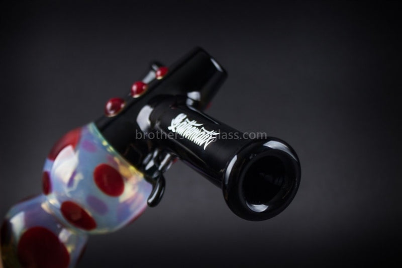 Mathematix Glass Steamroller Fumed Ray Gun Hand Pipe - Brothers with Glass - 3