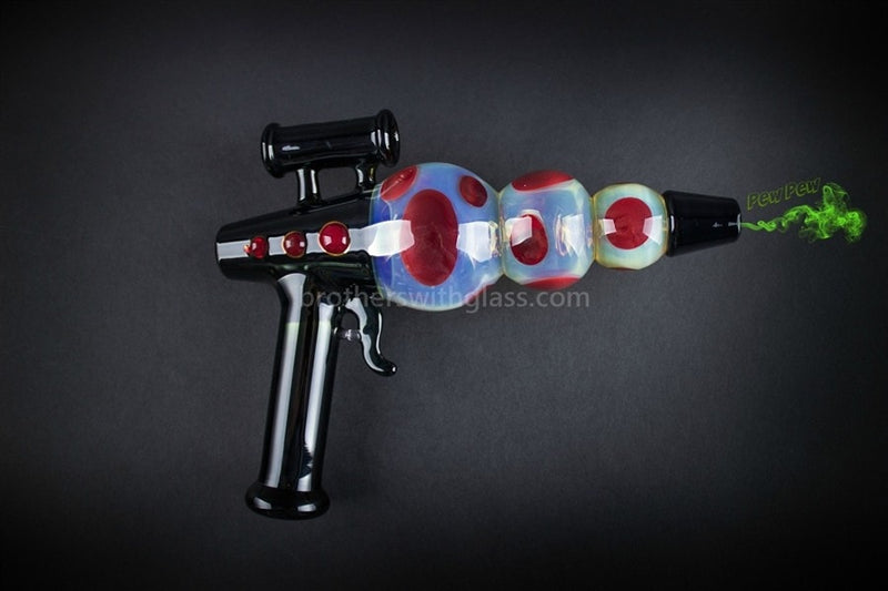 Mathematix Glass Steamroller Fumed Ray Gun Hand Pipe - Brothers with Glass - 7