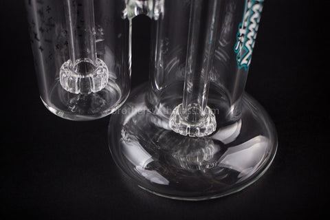 Mathematix Glass Double Barrel Showerhead Bubbler Water Pipe - Brothers with Glass - 2