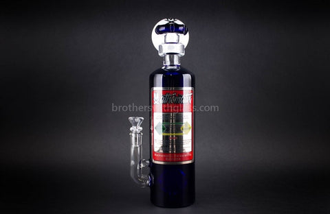 Mathematix Glass NOS Tank Bubbler Water Pipe - Brothers with Glass - 1