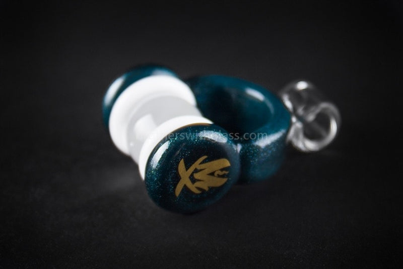 Mathematix Glass Mini Dichro Headphones Pendant - Teal - Brothers with Glass - 1
