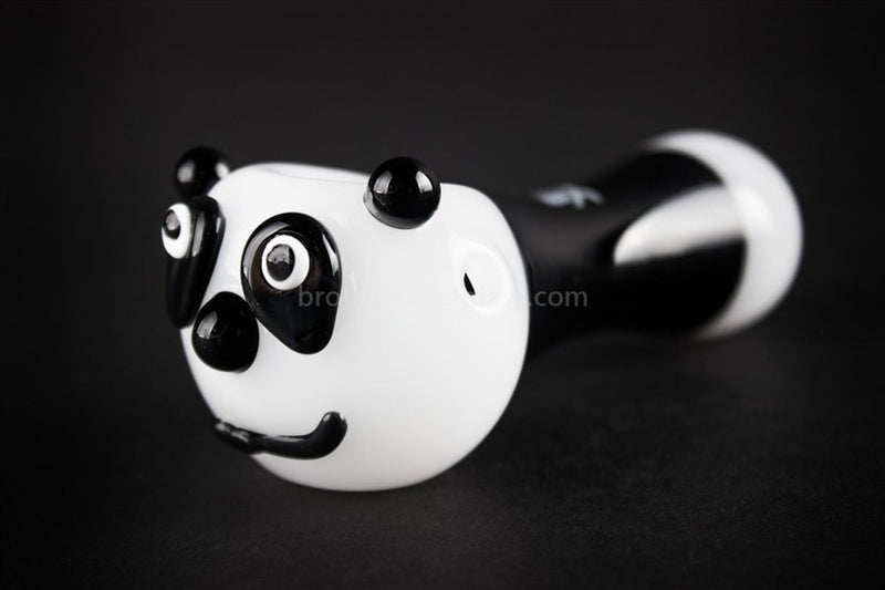 Mathematix Glass Panda Bear Hand Pipe - Brothers with Glass - 1