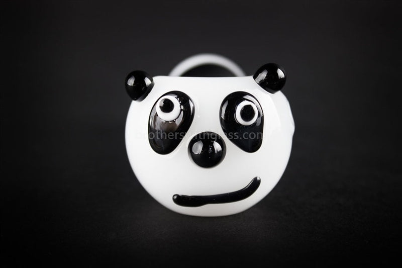 Mathematix Glass Panda Bear Hand Pipe - Brothers with Glass - 2