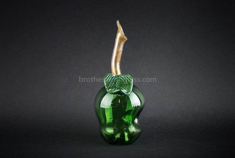 Mathematix Glass Artistic Green Apple Hand Pipe - Brothers with Glass - 2