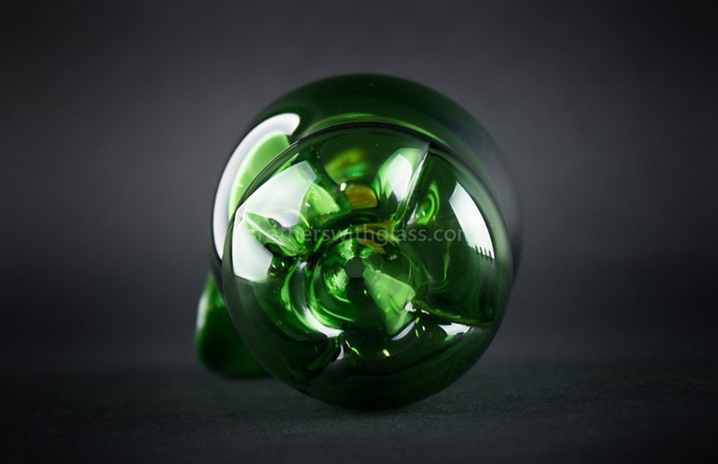 Mathematix Glass Artistic Green Apple Hand Pipe - Brothers with Glass - 5