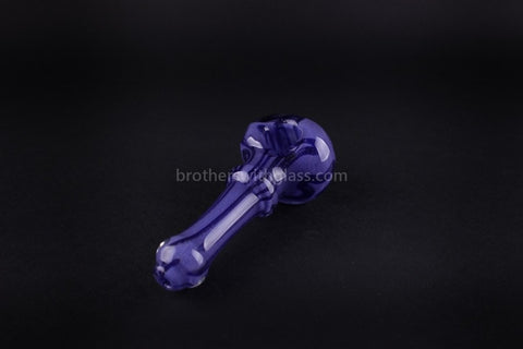 Nebula Glass Cursive Frit Hand Pipe - Purple - Brothers with Glass - 2