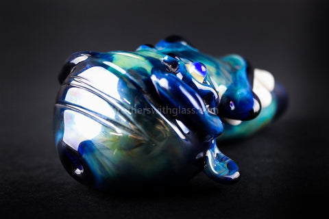 Nebula Glass Crazy Face Hand Pipe - Brothers with Glass - 2