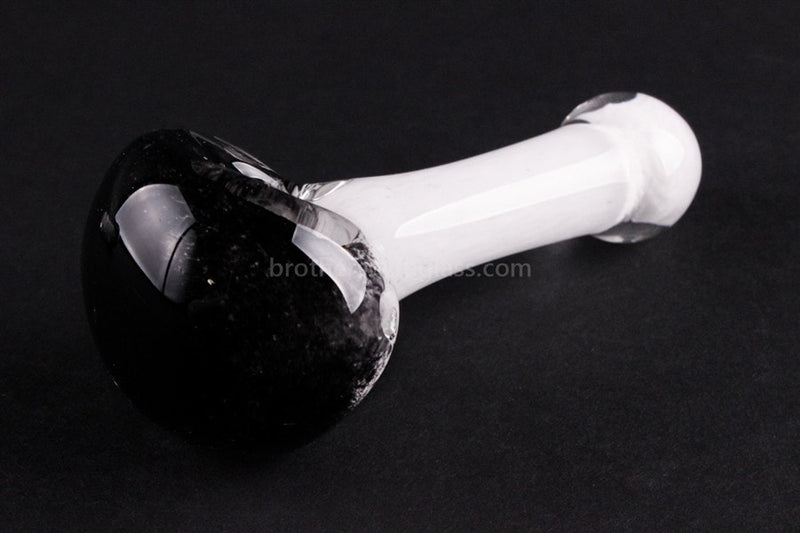 Nebula Glass Frit Hand Pipe - Black and White - Brothers with Glass - 2