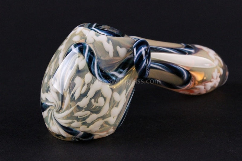 Oracle Glass Color Changing Inside Out Hand Pipe - White - Brothers with Glass - 1