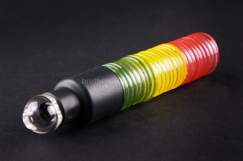 Ohana Glass Wrapped Blunt Hand Pipe - Rasta - Brothers with Glass - 1