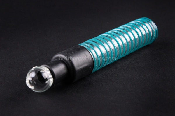 Ohana Glass Wrapped Blunt Hand Pipe - Teal - Brothers with Glass - 1