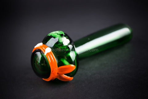 Mathematix Glass TMNT Turtle Hand Pipe - Michelangelo - Brothers with Glass - 2