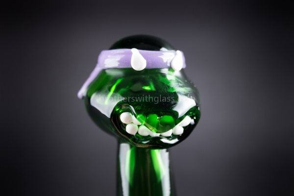 Mathematix Glass TMNT Turtle Hand Pipe - Donatello - Brothers with Glass - 1
