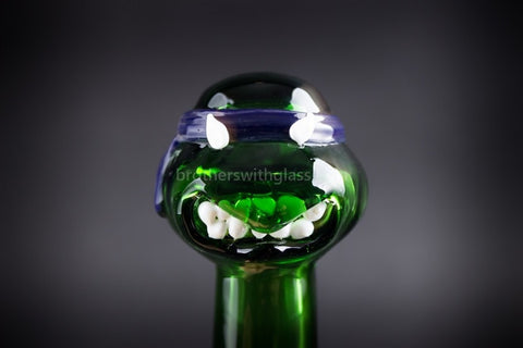 Mathematix Glass TMNT Turtle Hand Pipe - Leonardo - Brothers with Glass - 1