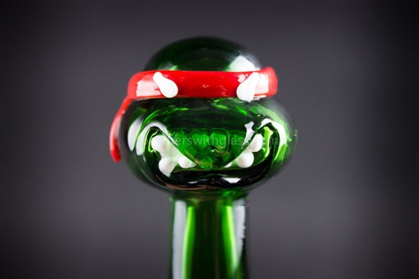Mathematix Glass TMNT Turtle Hand Pipe - Raphael - Brothers with Glass - 1