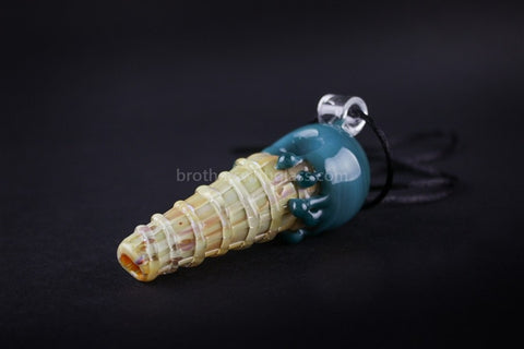 Mathematix Glass Ice Cream Hand Pipe Pendant - Blue Berry - Brothers with Glass - 2