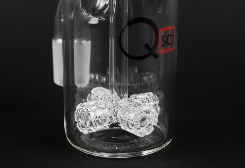 Quantum Sci Glass 18mm Quad Ashcater - 90 Degree - Brothers with Glass - 2