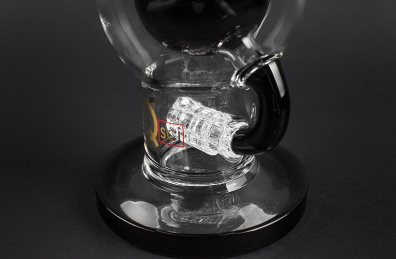 Quantum Sci Glass Orb Water Pipe - Black - Brothers with Glass - 3
