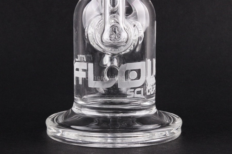 JM Flow Cross Perc to Recycler Clear Dab Rig - Brothers with Glass - 3