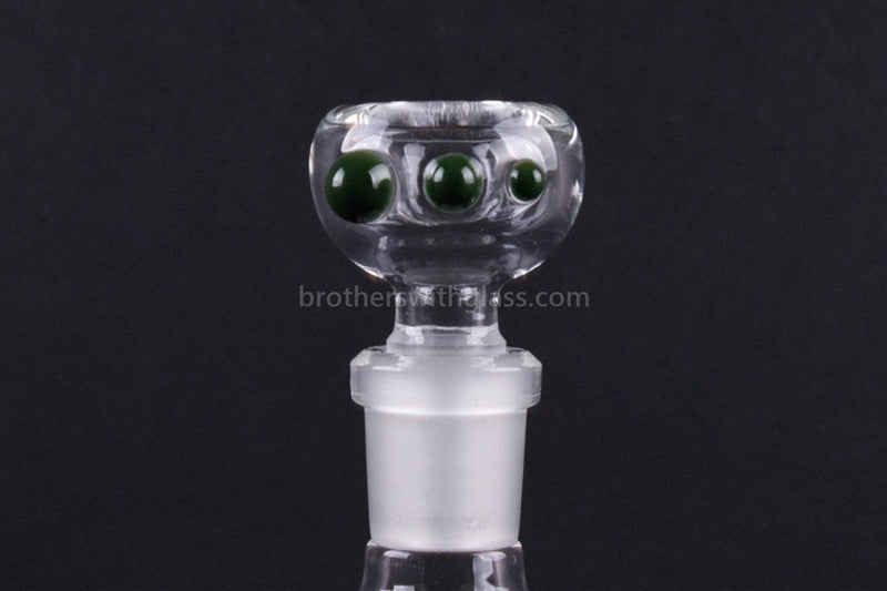 Realization Glass 14mm Slide Worked Three Dot  - Forest Green - Brothers with Glass - 1