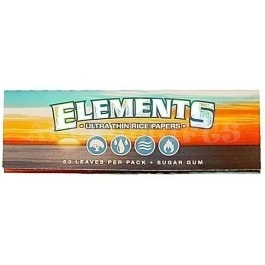 "Elements Ultra Rice 1 1/4"" Rolling Papers - Brothers with Glass"