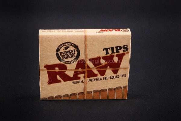 Raw Unrefined Pre-Rolled Tips For Rolling Papers - Brothers with Glass