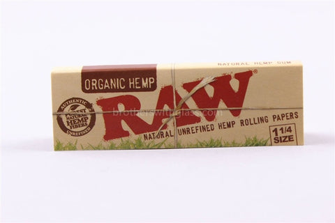 Raw Organic Hemp 1 1/4 Rolling Papers - Brothers with Glass