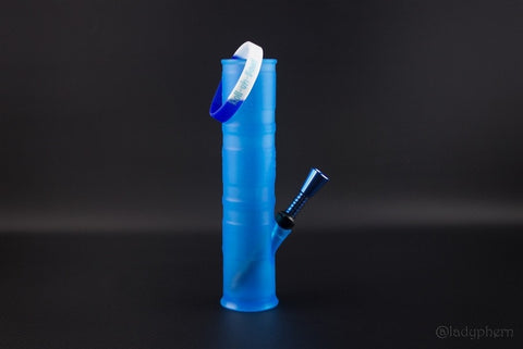 Roll-Uh-Bowl Water Pipe - Blue Dream - Brothers with Glass - 1