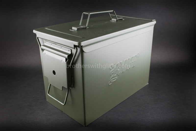 Ryot Destroyer Ammo Can Glass Pipe Case - Brothers with Glass - 1