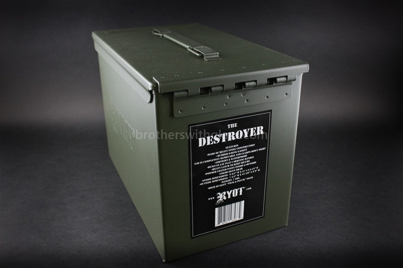 Ryot Destroyer Ammo Can Glass Pipe Case - Brothers with Glass - 2