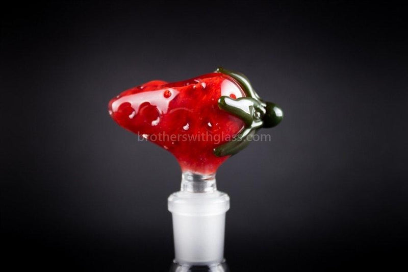 Mathematix Glass 14mm Scrumptious Strawberry Slide - Brothers with Glass - 1
