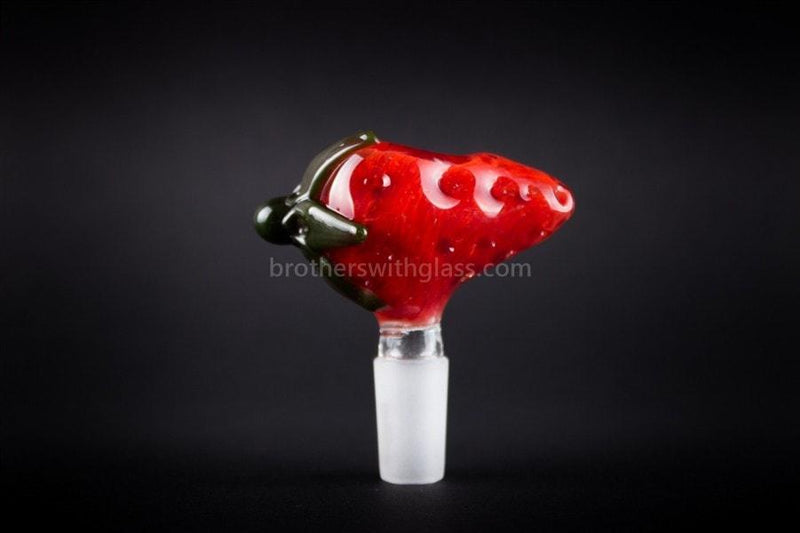 Mathematix Glass 14mm Scrumptious Strawberry Slide - Brothers with Glass - 3