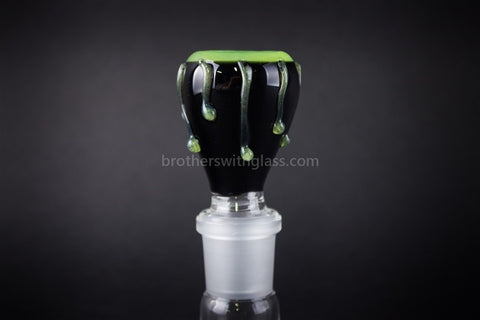 Mathematix Glass Black 18mm Slide with Slyme Drips - Brothers with Glass - 1