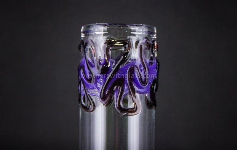 Realazation 12 In Worked Beaker Water Pipe - Black N Blue - Brothers with Glass - 4