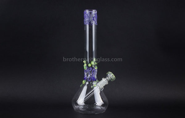 Realazation 12 In Worked Beaker Water Pipe - Purple and Slyme - Brothers with Glass - 1