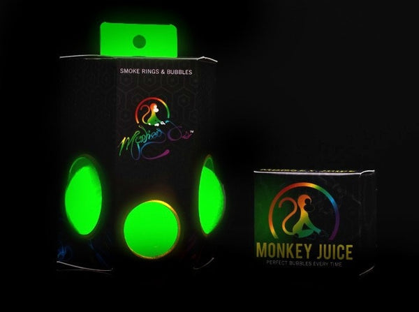 Monkey O Perfect Smoke Rings and Bubbles - Glow In the Dark - Brothers with Glass - 1