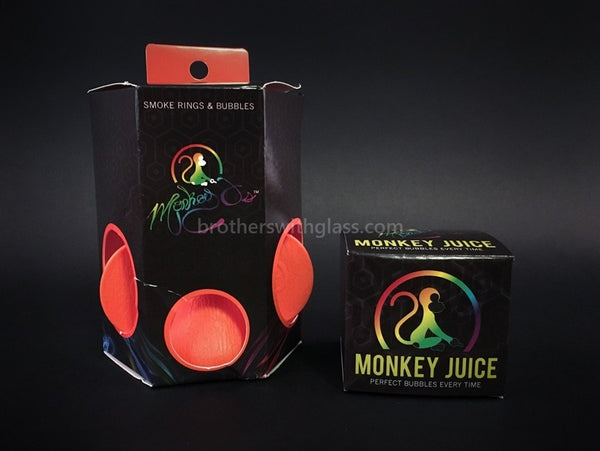 Monkey O Perfect Smoke Rings and Bubbles - Orange - Brothers with Glass