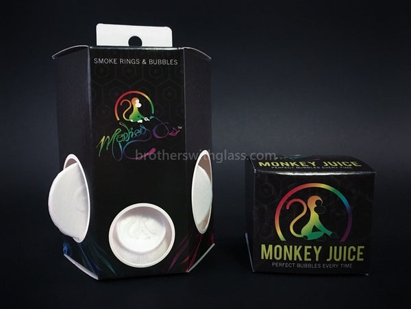 Monkey O Perfect Smoke Rings and Bubbles - White - Brothers with Glass