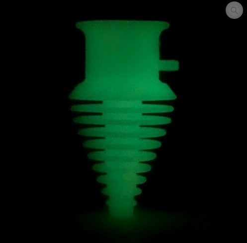 Moose Labs MouthPeace Pipe Protector - Yellow and Green GLOW - Brothers with Glass - 2