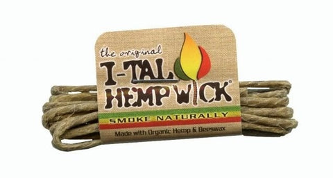 I-Tal Natural Hemp Wick with Organic Beeswax - Small - Brothers with Glass