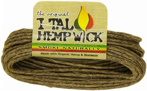I-Tal Natural Hemp Wick with Organic Beeswax - Large - Brothers with Glass