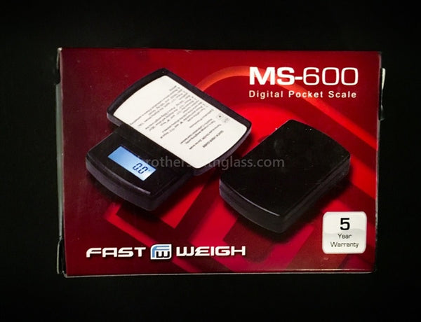 Fast Weigh MS-600 Digital Pocket Scale - Brothers with Glass - 1
