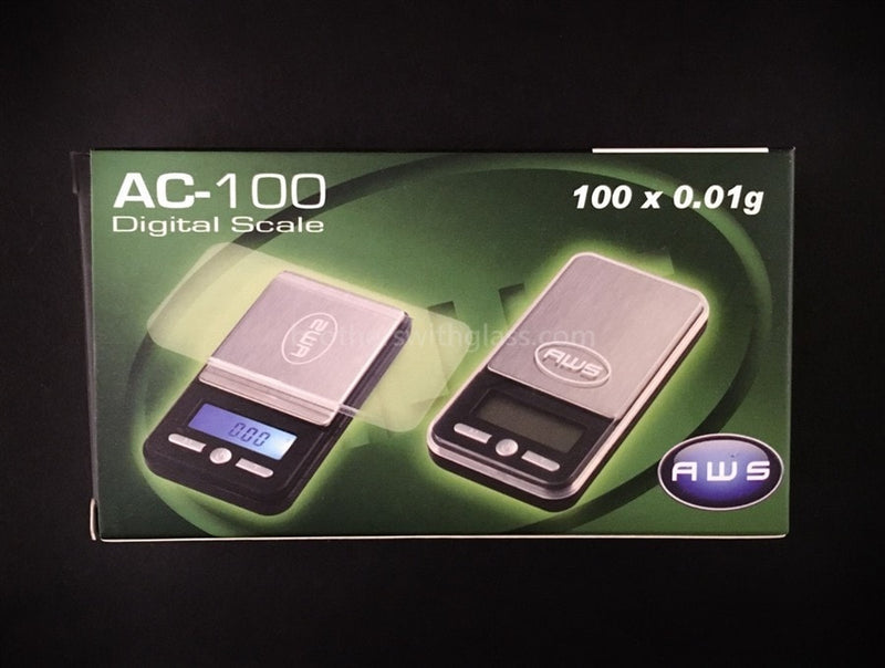 AWS AC-100 Standard Digital Scale With Tray - Brothers with Glass